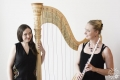 Гуннхилдур Эйнарсдоттир (арфа, Исландия) и Кристиана Хелгадоттир (флейта, Исландия)